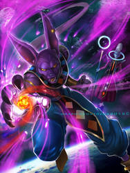 God of Destruction Beerus by GraphicFortress