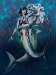Shark Embrace by Chael