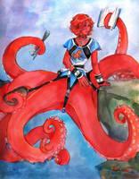 Kraken's octomaid by Chael