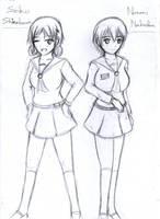 [Rough] Corpse party : Seiko and Naomi by Generalmaster