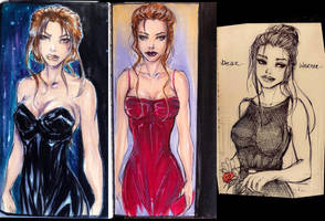 Some lara croft sketches by Adayka