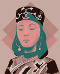 Lady of Ainu, Japan by Tysirr