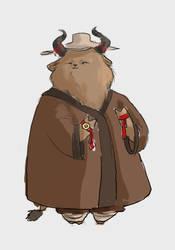 Bull warrior by Tysirr