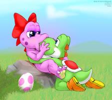 Yoshi and Birdo by DrJavi