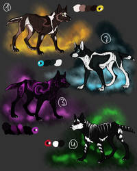 Adoptables - Canides Closed by Anipurk