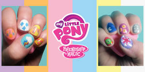 MLP FiM Nails by redroseelcamino