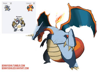 Pokemon Fusion 7 - Rhyzard! (Charizard + Rhydon) by BonnyJohn
