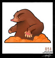 Dugtrio!  Pokemon One a Day! by BonnyJohn