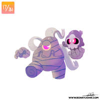 10/17 - Duskull and Dusclops! by BonnyJohn