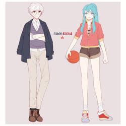 FANART // Modern Robin and Eirika by HiraSena