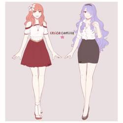 FANART // Modern Celica and Camilla by HiraSena