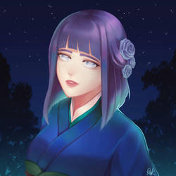 NARUTO // Hinata by HiraSena