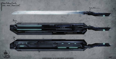 Nsa Concept Art Weapons Monic Saber by VLADSPARTA