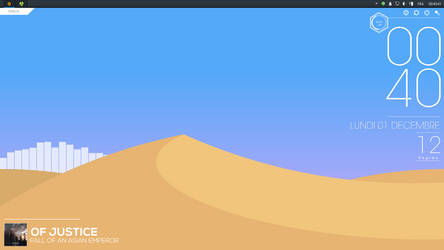 Desktop Screenshot #1 - Dunes [Rainmeter] by KealiaLaw