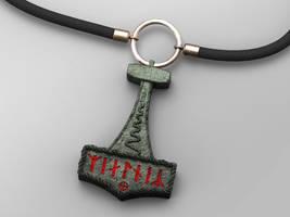 Mjollnir pendant by NeroWulf