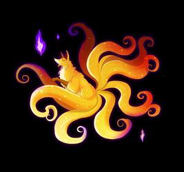 Golden Kitsune by Maximilien-Serpent