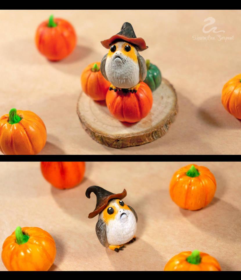 Halloween Porg by Maximilien-Serpent