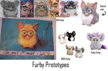 Furby prototypes by Lordofdragonss