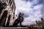 Budapest - Proud Lion of the Hungarian Parliament by kereszteslp