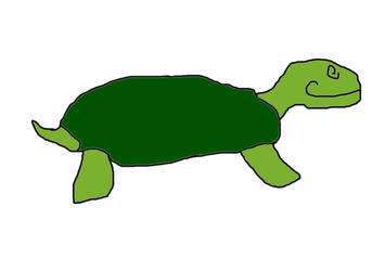 Mr. Crudely drawn turtle by Hmpho