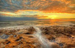 13th Beach Sunset 3 by daniellepowell82