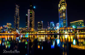 Melbourne at Night by daniellepowell82