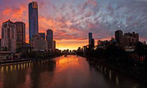 City Sunset Panorama by daniellepowell82