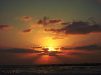 Sunset on Sea by Melancholic-Vision