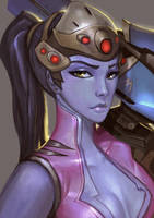Widowmaker portrait by Su-Pra