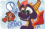 StD-Shark Spyro Finds Nemo by KrazyKari