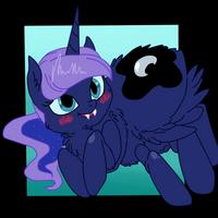 ( MLP ) Fluffy Spider Princess Luna Collab by KrazyKari