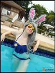 Officer Judy Hopps Bikini Cosplay (Zootopia) by KrazyKari