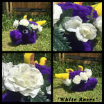 White Roses Fursuit Sized Flower Crown by KrazyKari