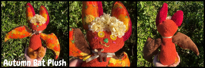 Autumn Bat Custom Plush by KrazyKari