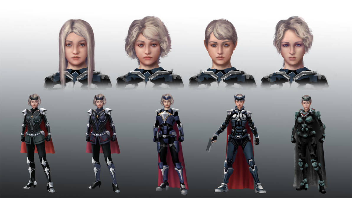 Nova Avatar design sketches by michaellam