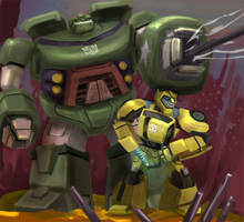 BumbleBee and  Bulkhead by Gatack