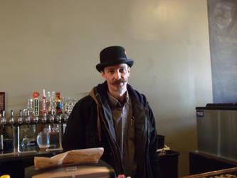 Mister Moustache Arrives at Work by Ablebaker
