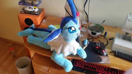 Vaporeon Plushie completed by joris50066