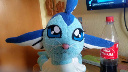 The Face from my Vaporeon Plushie by joris50066