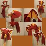 volcano dragon hat-bag by ichi-neko-designs