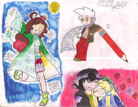 Christmas Sketchdump #1 by PinkieDiamondstone15