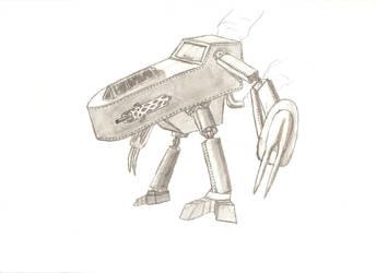 Steampunk Mech by Gigadramon6
