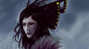 Misterious girl by elbardo