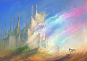 Magic palace in the desert by elbardo