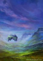 Forgotten island in the sky by elbardo