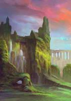 Ruins in the valley by elbardo