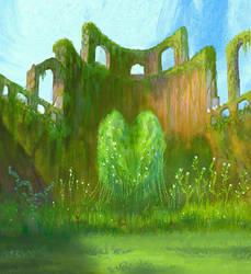 Heart in the garden by elbardo