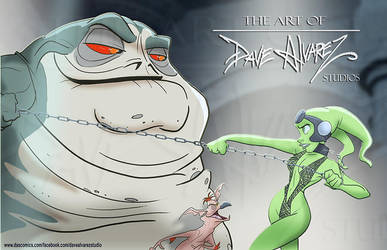 Oola vs Jabba  by DaveAlvarez