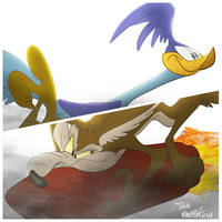 Road Runner and Coyote by DaveAlvarez