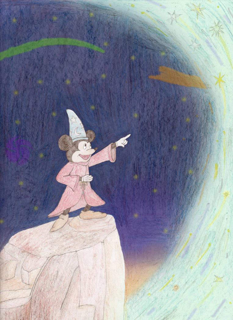 Sorcerer Mickey's Sky of Light by MellowSunPanther